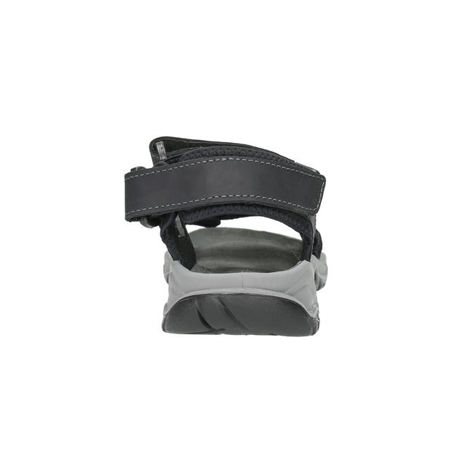 Kožené pánske sandále weinbrenner, čierna, 866-6630 - 17