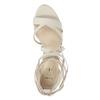 Šnurovacie sandále na podpätku insolia, béžová, 769-1613 - 19