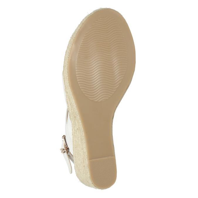 Sandále na platforme bata, biela, 759-1603 - 26