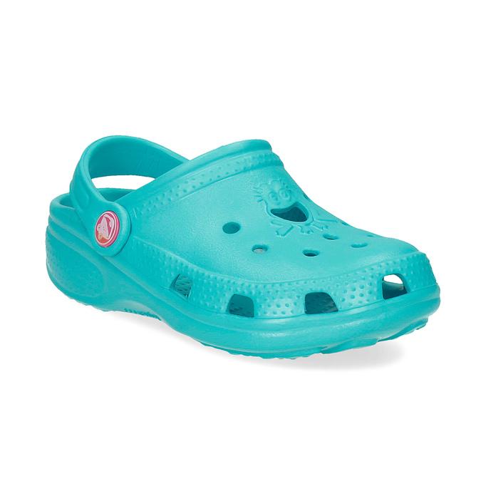 Tyrkysové detské sandále Clogs coqui, 372-9605 - 13