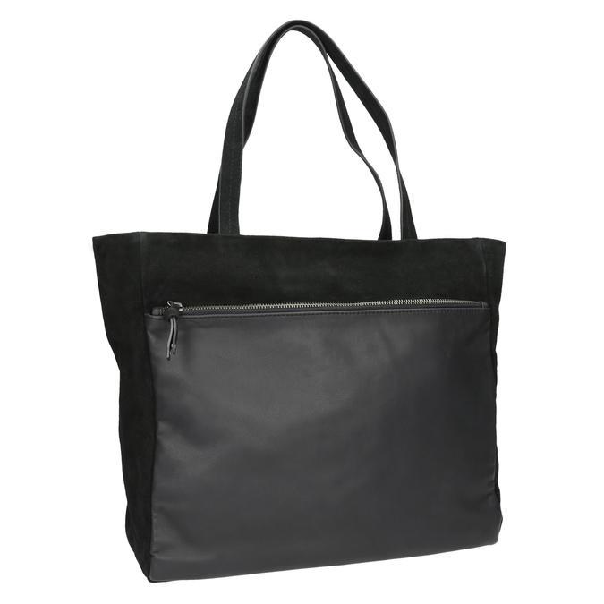 Dámska kožená Shopper kabelka bata, čierna, 963-6191 - 13