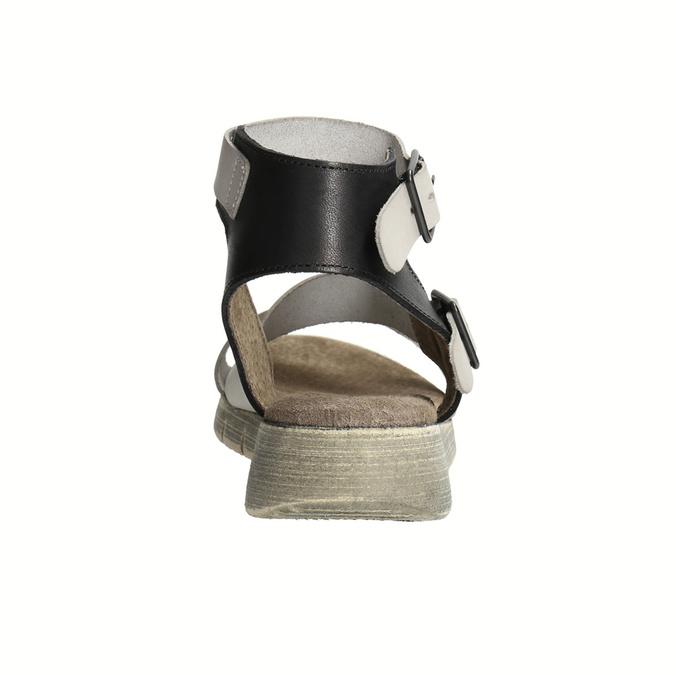 Dámske kožené sandále weinbrenner, šedá, 566-2627 - 17
