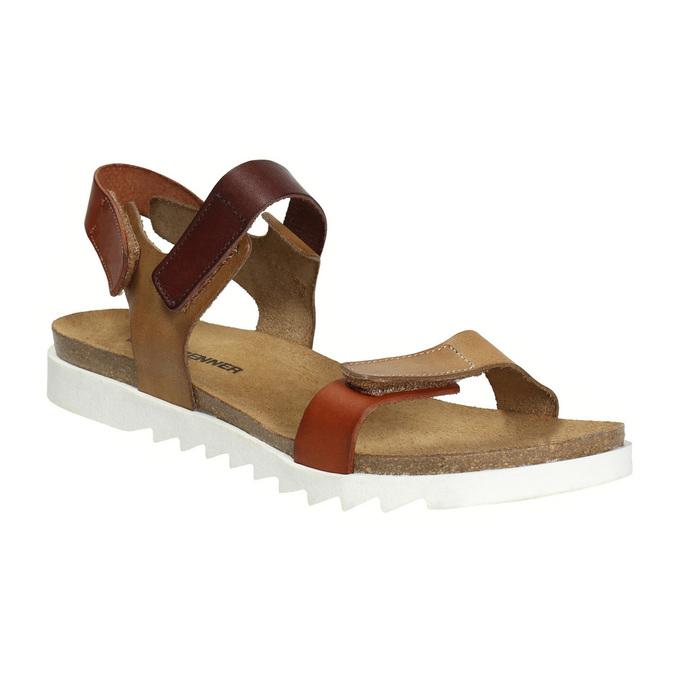 Dámske kožené sandále weinbrenner, hnedá, 566-4630 - 13