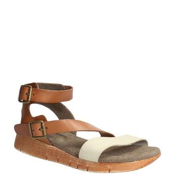 Kožené sandále na výraznej podrážke weinbrenner, hnedá, 566-4627 - 13