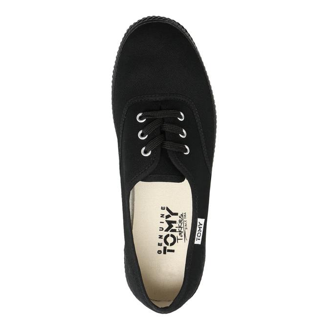 Čierne dámske tenisky tomy-takkies, čierna, 589-6180 - 26