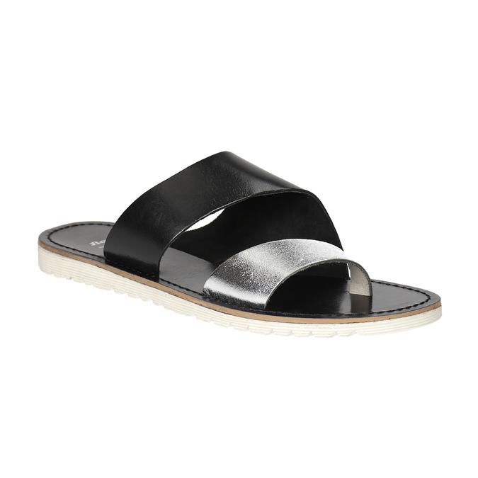 Dámske kožené nazuváky bata, čierna, 566-1614 - 13