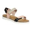 Kožené dámske sandále na suchý zips weinbrenner, ružová, 566-3630 - 13