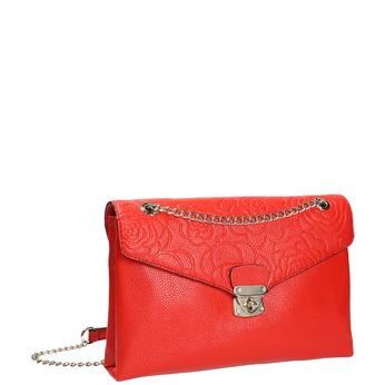 Menšia červená kabelka s klopou bata, červená, 961-5731 - 13