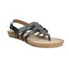 Korkové sandále s hadím vzorom bata, čierna, 561-6606 - 13