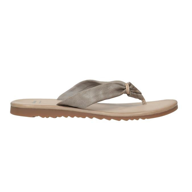 Dámske kožené žabky bata, šedá, 566-2607 - 15