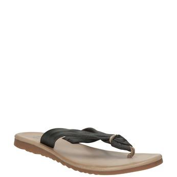 Dámske kožené žabky bata, čierna, 566-6607 - 13
