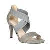 Dámske sandále na podpätku bata, šedá, 761-2614 - 13