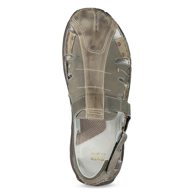 Pánske hnedé kožené sandále bata, hnedá, 866-2622 - 17