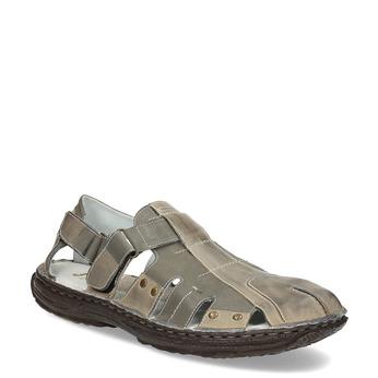 Pánske hnedé kožené sandále bata, hnedá, 866-2622 - 13
