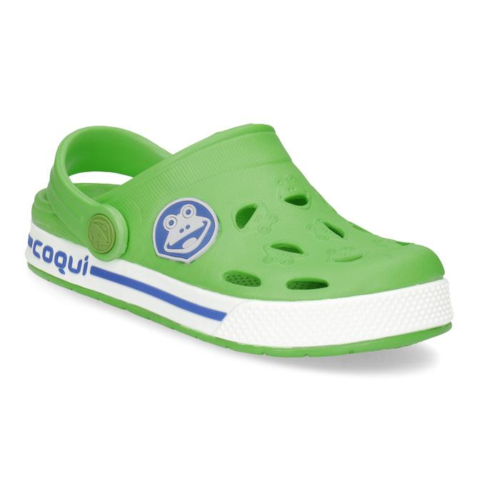 Detské zelené sandále so žabkou coqui, zelená, 272-7603 - 13
