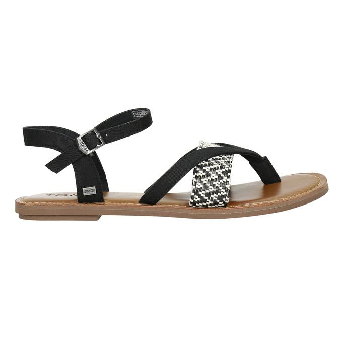 Dámske sandále medzi prsty toms, čierna, 561-6063 - 15