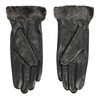 Kožené dámske rukavice s kožušinkou bata, čierna, 904-6112 - 16