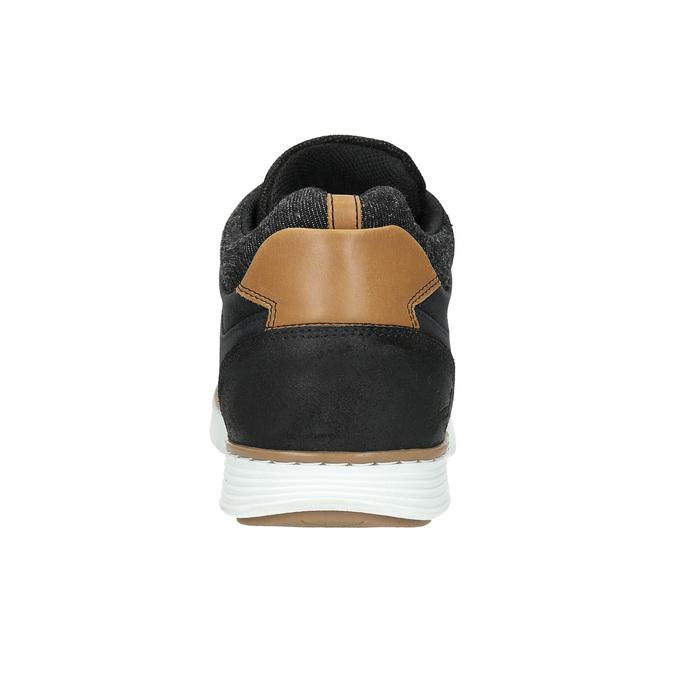 Členkové pánske tenisky z kože bata, čierna, 846-6641 - 17