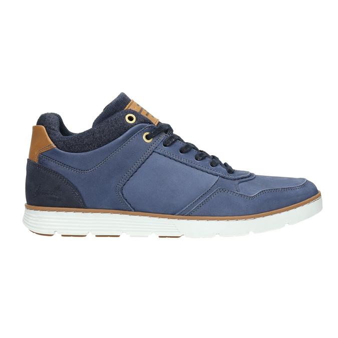 Kožené členkové tenisky bata, modrá, 846-9641 - 15