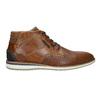 Ležérna členková obuv z kože bata, hnedá, 826-3912 - 15