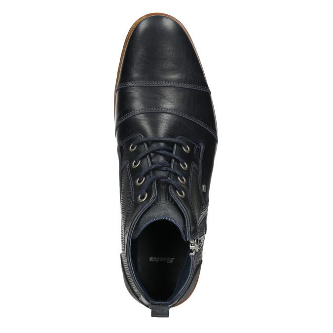 Kožená členková obuv so zipsom bata, modrá, 826-9911 - 26
