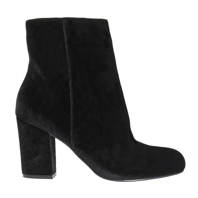 Čierne dámske čižmy na podpätku bata, čierna, 799-6616 - 15