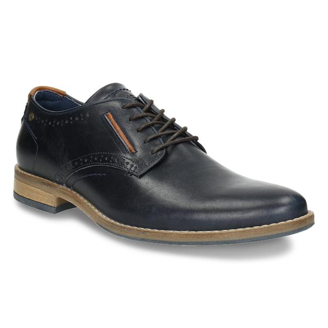 Neformálne kožené poltopánky bata, modrá, 826-9910 - 13