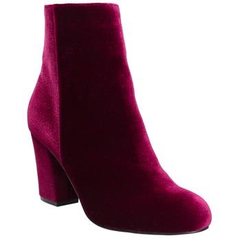 Dámske zamatové čižmy bata, červená, 799-5616 - 13