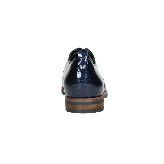 Kožené dámske poltopánky bata, modrá, 528-9600 - 17