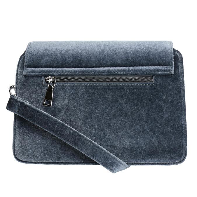 Dámska zamatová kabelka bata, šedá, 969-2662 - 26
