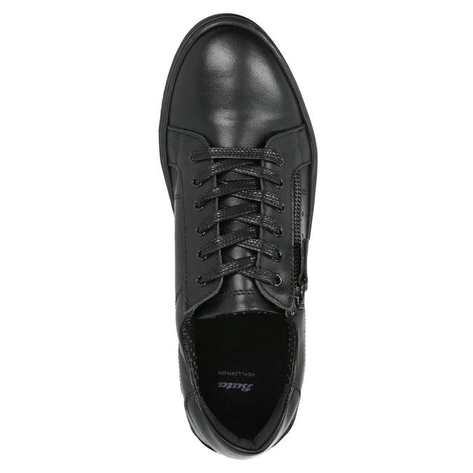 Dámske kožené tenisky bata, čierna, 526-6630 - 26