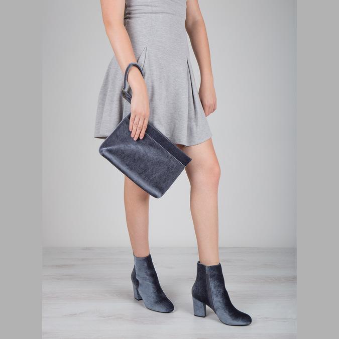 Dámske zamatové čižmy bata, šedá, 799-2616 - 18