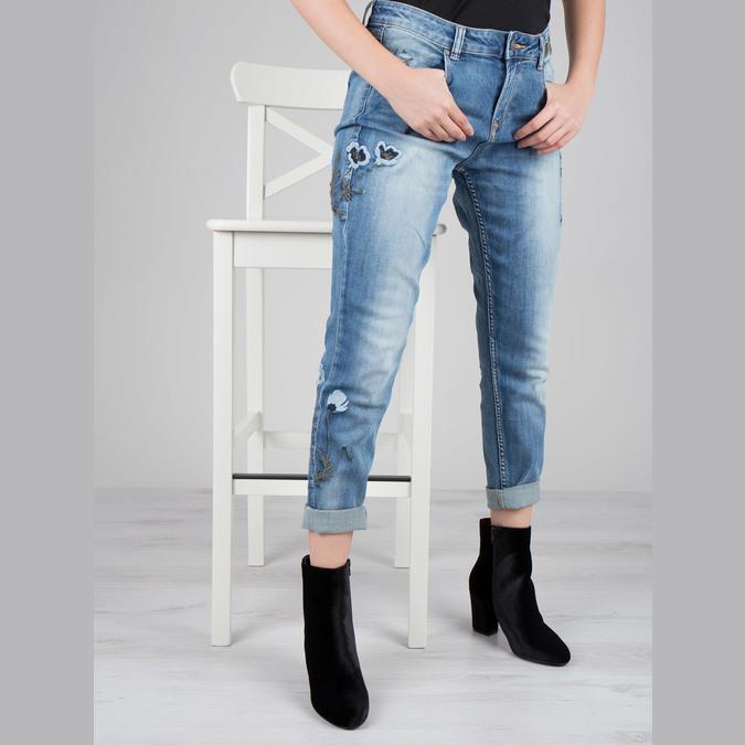 Čierne dámske čižmy na podpätku bata, čierna, 799-6616 - 16
