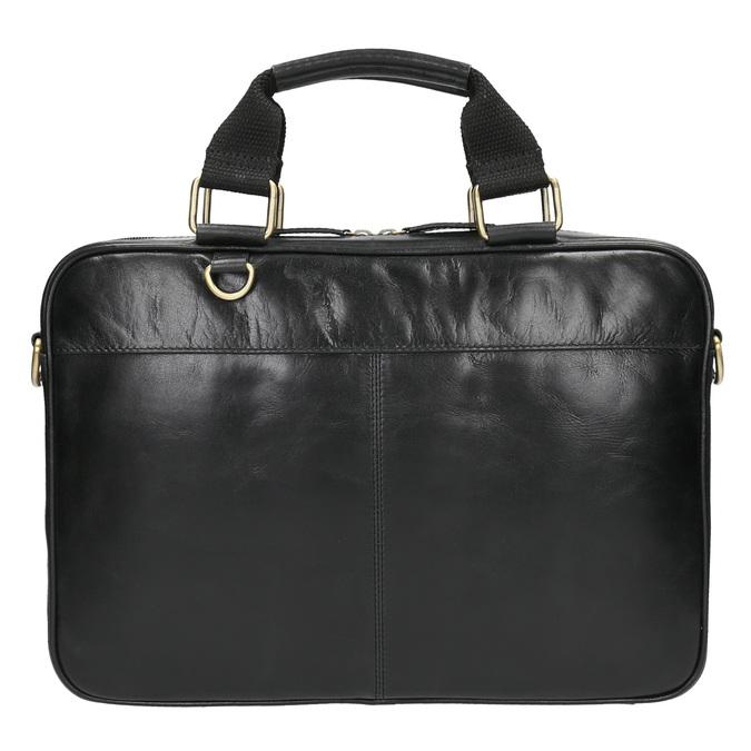 Kožená unisex taška bata, čierna, 964-6204 - 19