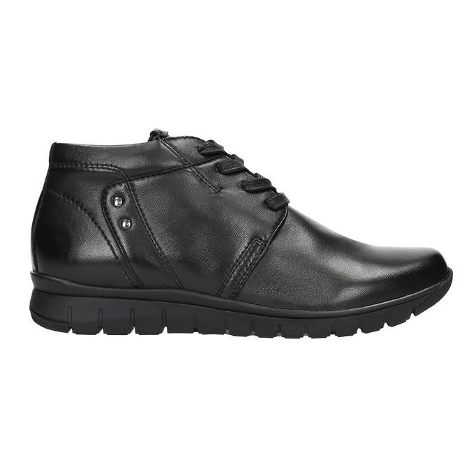 Kožená členková obuv bata, čierna, 524-6605 - 15