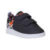 Detské tenisky s potlačou adidas, čierna, 101-6133 - 13