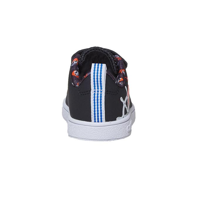 Detské tenisky s potlačou adidas, čierna, 101-6133 - 17