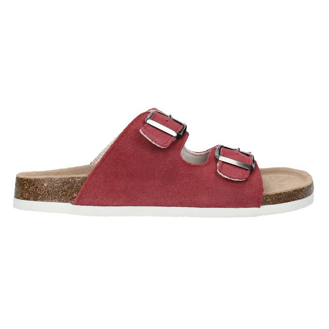 Kožené dámske papuče de-fonseca, červená, 573-4621 - 15