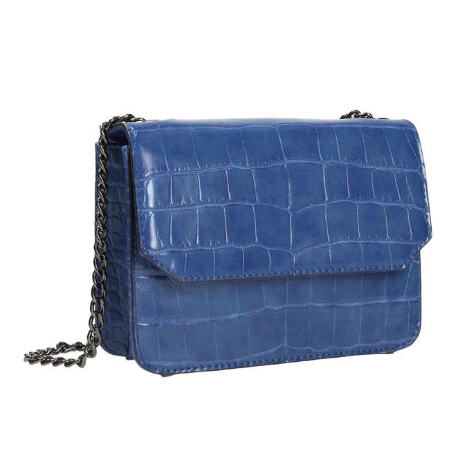 Modrá kabelka so štruktúrou bata, modrá, 961-9753 - 13