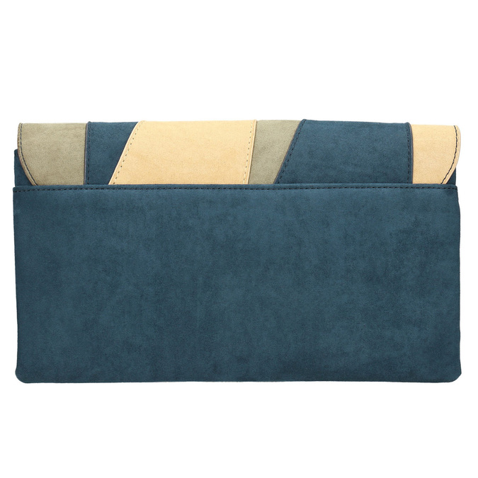 Modrá dámska listová kabelka s pútkom bata, modrá, 969-9664 - 26