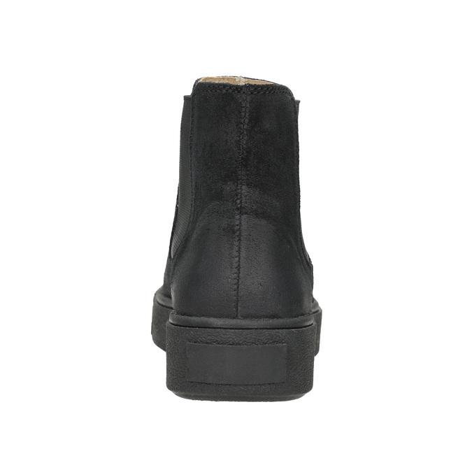Dámska kožená členková obuv bata, čierna, 596-6671 - 16
