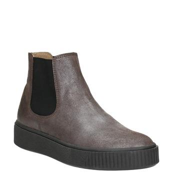 Kožená dámska Chelsea obuv bata, hnedá, 596-1671 - 13