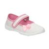 Detská domáca obuv s mašličkou mini-b, biela, 379-1214 - 13