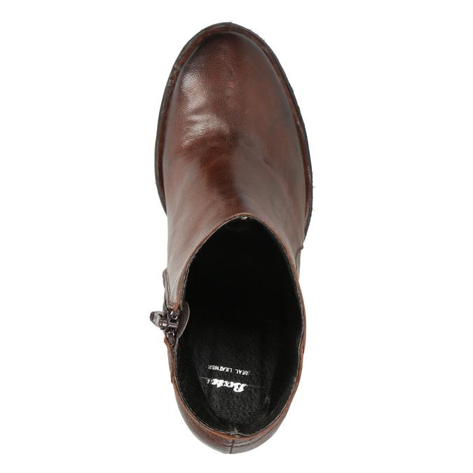 Kožené členkové čižmy bata, hnedá, 696-4626 - 26
