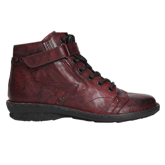 Dámska kožená členková obuv bata, červená, 596-5656 - 15