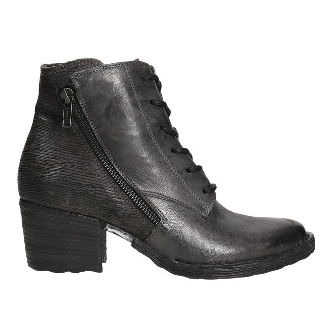 Dámska kožená členková obuv bata, šedá, 696-2627 - 15