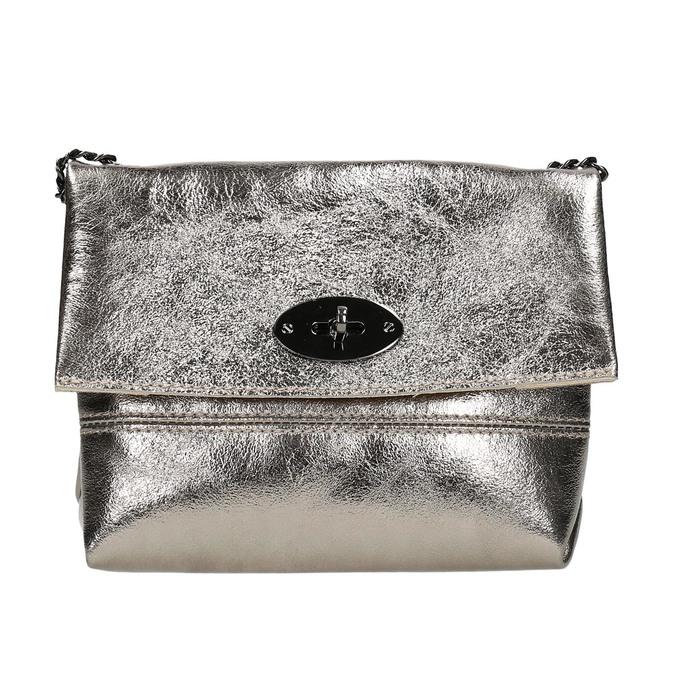 Dámska kožená Crossbody kabelka bata, zlatá, 964-8839 - 17