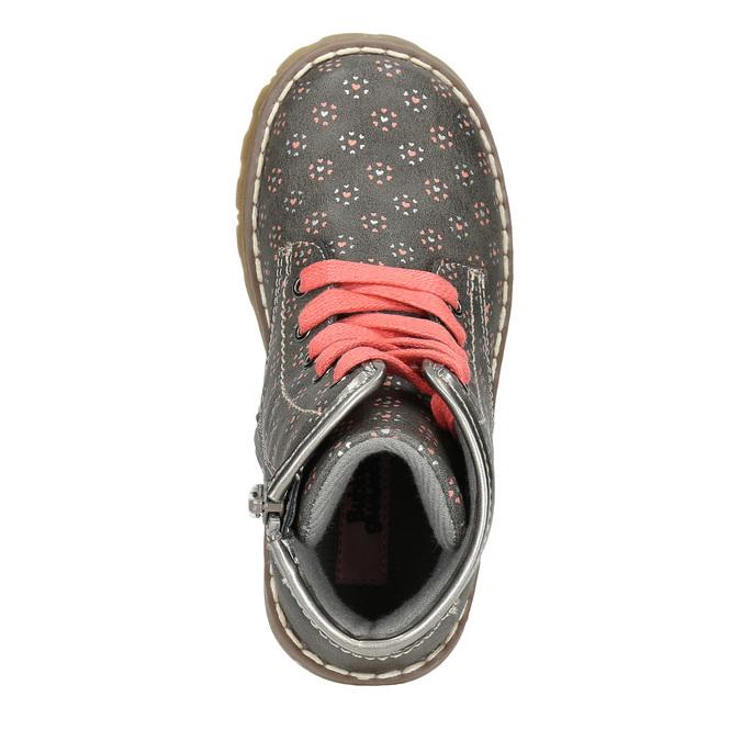 Detská členková obuv bubblegummers, šedá, 221-2606 - 26