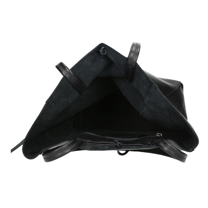 Kožená kabelka v Shopper štýle bata, čierna, 964-6122 - 15