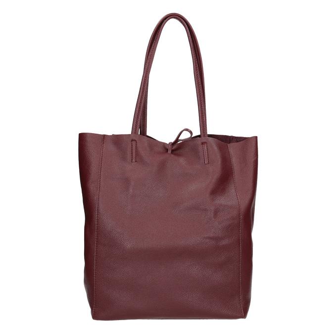 Vínová kožená Shopper kabelka bata, červená, 964-5522 - 16